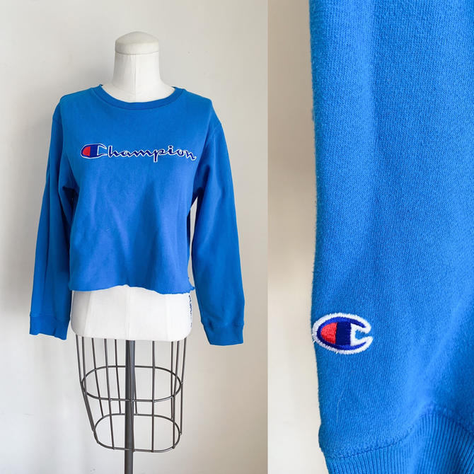 Vintage Blue Champion Logo Crewneck Sweatshirt / M by MsTips