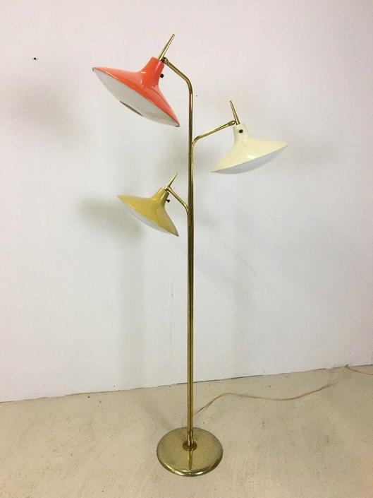 Atomic Age Floor Lamp in Style of Gio Ponti by retrocraftdesign