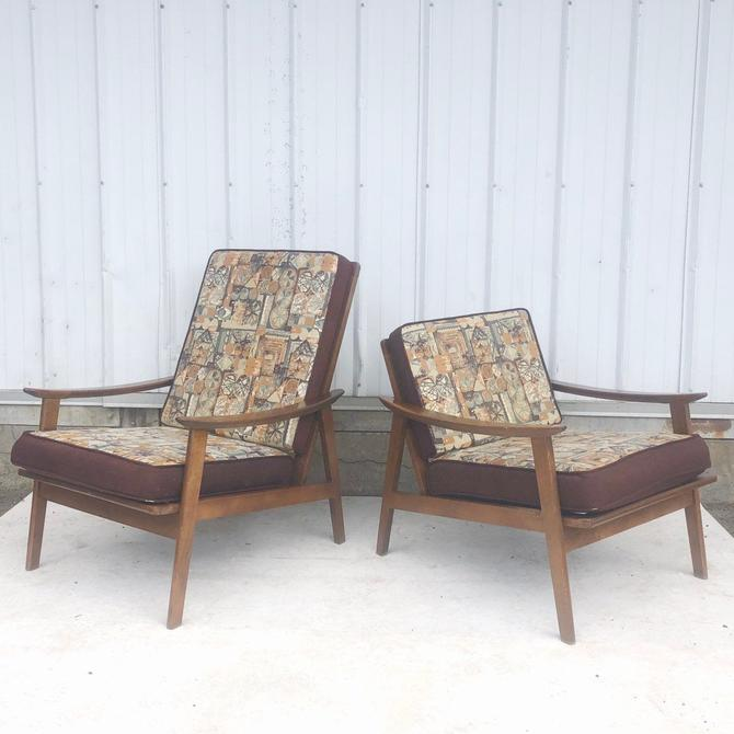 Pair Mid-Century Lounge Chairs, Otto Gerdau by secondhandstory