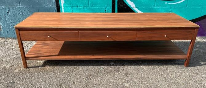 Mid Century 3 Drawer Coffee Table