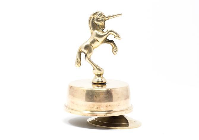 Vintage Brass Unicorn Figurine, Music Box by GreenSpruceDesigns