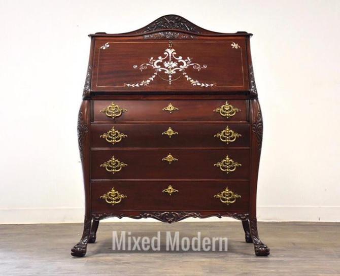 R.J. Horner Mahogany Secretary Desk by mixedmodern1