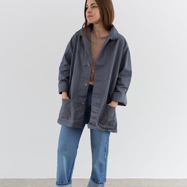 Vintage Grey Chore Coat   Unisex Cotton Utility Work Jacket   Made in Italy   M L   IT210 by RAWSONSTUDIO