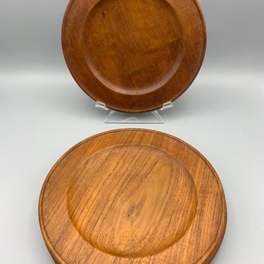 Set of 4 vintage teak plates by CandCmodern