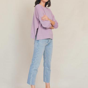 Slouchy Sweatshirt in Lavender