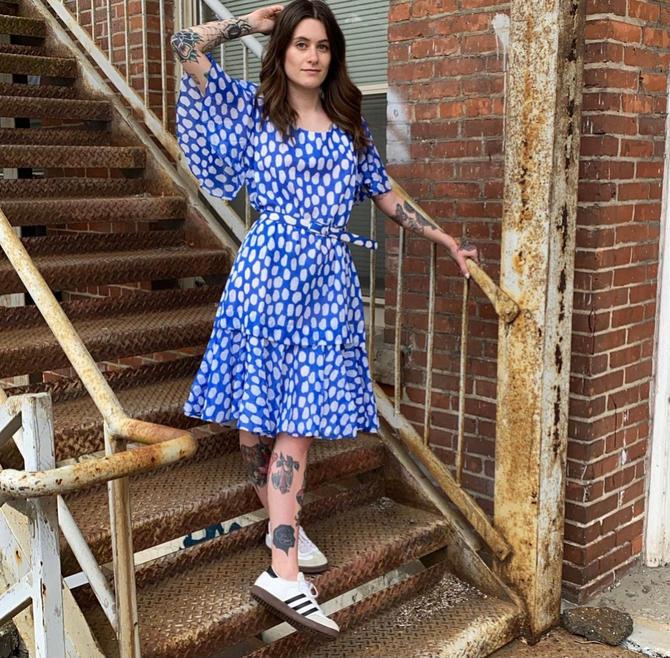 Vintage Blue & White Polka Dot Dress by milkandice