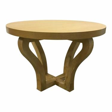Modern Round Oak Finished Wood Center Table/Dining Table