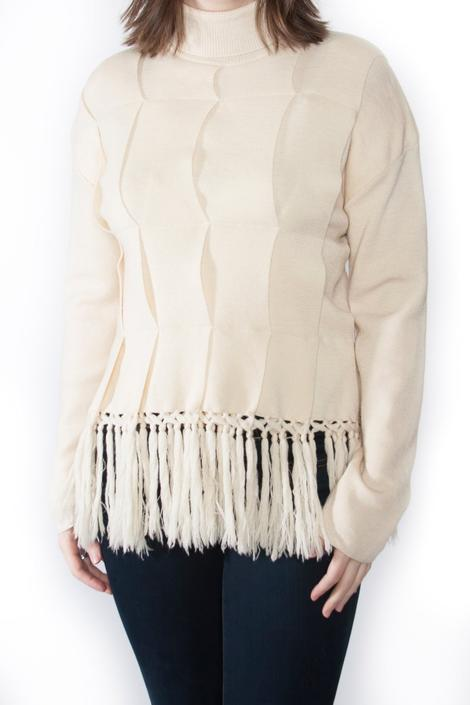 90's Wool Sweater with Fringe by PFVintage