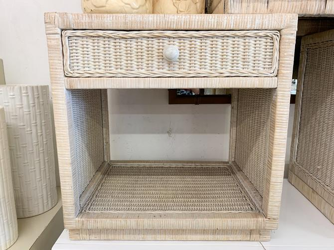 Wicker Wrapped Night Stand