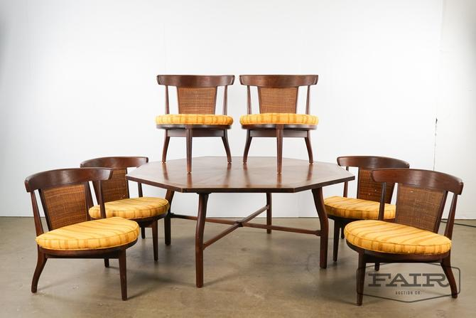 American Modern Low Card Set-Table and 6 Chairs