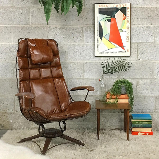 LOCAL PICKUP ONLY —————- Vintage Homecrest Lounge Chair by RetrospectVintage215