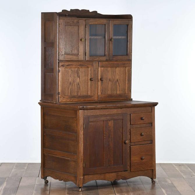 Antique Expanding Hoosier Hutch Kitchen Cabinet