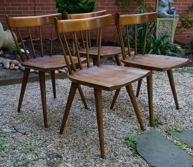 Paul Mccobb Planner Group Spindle Back Dining Chairs Mid Century Modern By Cabinmoderndc
