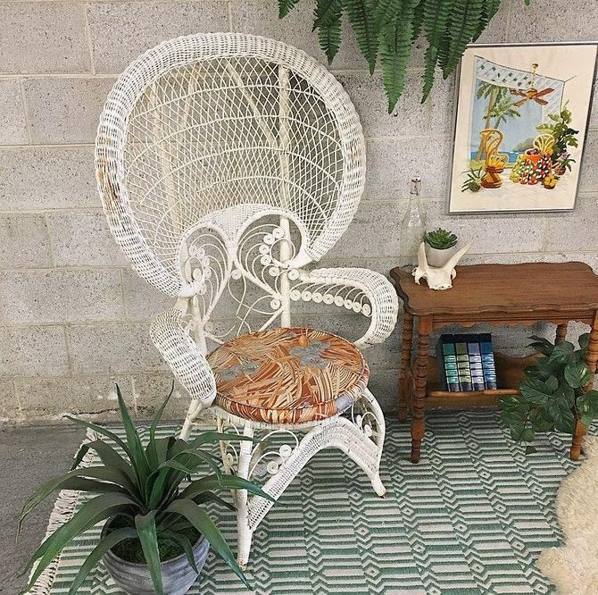LOCAL PICKUP ONLY ------------ Vintage Wicker Chair by RetrospectVintage215