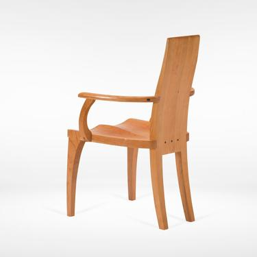 """Dining Chair With Arms - Handmade Solid Cherry Wood Captain's Chair """"Gazelle"""" by NathanHunterDesign"""