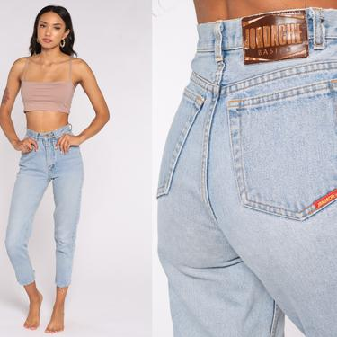 90s Jordache Jeans 24 -- Skinny Mom Jeans High Waist ANKLE ZIP Jeans Denim Pants 90s Slim Jeans Vintage Extra Small xs Short by ShopExile