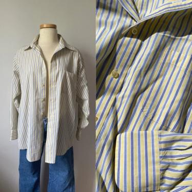 Soft Blue and Yellow Striped Menswear by DiscoLaundryVintage