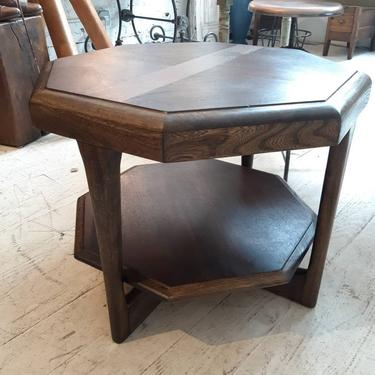 Mid-Century Modern Octagonal Two Tiered Side End Table Adrian Pearsall For The Lane Co by StateStreetSalvage