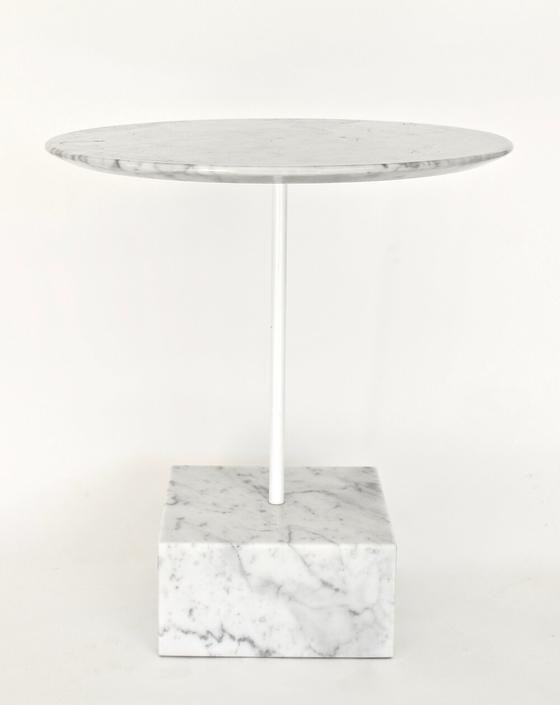 Ettore Sottsass Primavera Carrara Marble Side Table Ultima Edizione