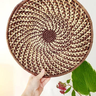 """Woven Shallow Bowl Basket 14"""" Wall Decor by pennyportland"""