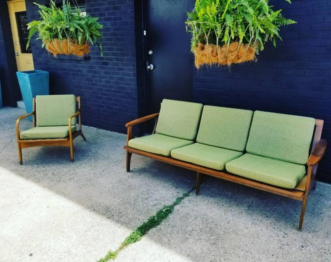 Mcm Sofa And Chair 650 For The Pair