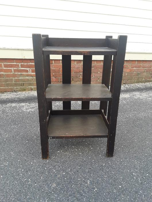 Mission oak 3 tier music or magazine stanf by QuaboagValleyAntique