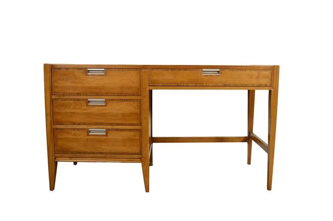 Walnut Desk Made by Basic Witz Mid Century Modern by HearthsideHome