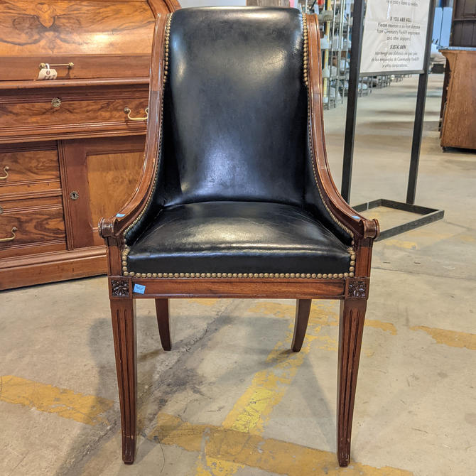Federal Style Leather Chair