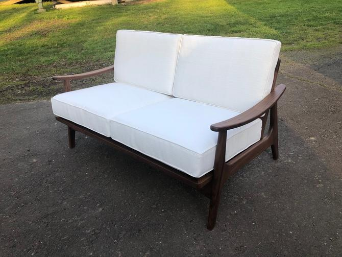 Mid Century Modern Sofa, Love Seat , Couch , Danish Modern , Easy Chair , Arm Chair , Upholstered Chair by donyacovella