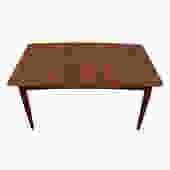 Arne Vodder / Falster Danish Teak Expanding Dining Table w/ 2 'Butterfly' Leaves