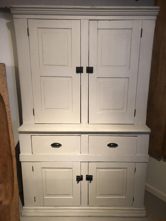 Antique stepback hutch, cabinet, cupboard.  Painted.  Free Aldie VA pickup/Delivery-shipping extra by RustandRefind