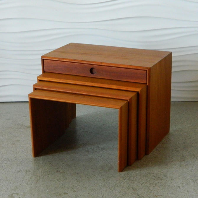 0cc50e7a0a HA-C8230 Aksel Kjersgaard Teak Nest of Tables from Home Anthology of ...