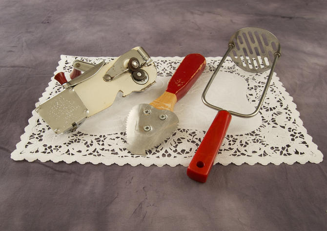 Vintage Lot Kitchenalia Red by TheresaWellsStifel