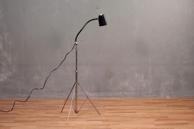 Industrial Gooseneck Tripod Floor Lamp