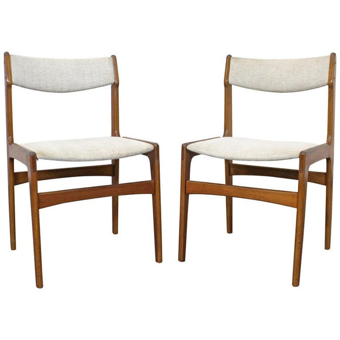 Danish Modern Teak Side Dining Chairs Mid Century Modern - Pair of Chairs by AnnexMarketplace