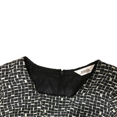 (L) Emool Black/White Checkered Dress 072921 LM