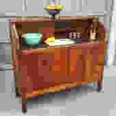 Vintage Moore Precision Tools mahogany workbench