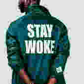 Stay Woke Coaches' Jacket (Forest Green)