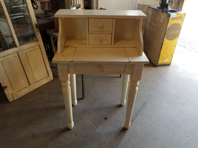 "Adorable Little Wooden Desk  25 7/8"" W by 40"" T by 17"" D"