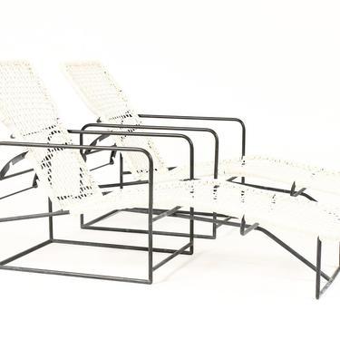Mid Century Bronze Patio Reclining Chaise Lounges – Kurt Voss Metals by atomicthreshold