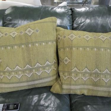 NEW PAIR OF OLIVE PILLOWS