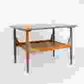 Brown Saltman Solid Walnut Side Table