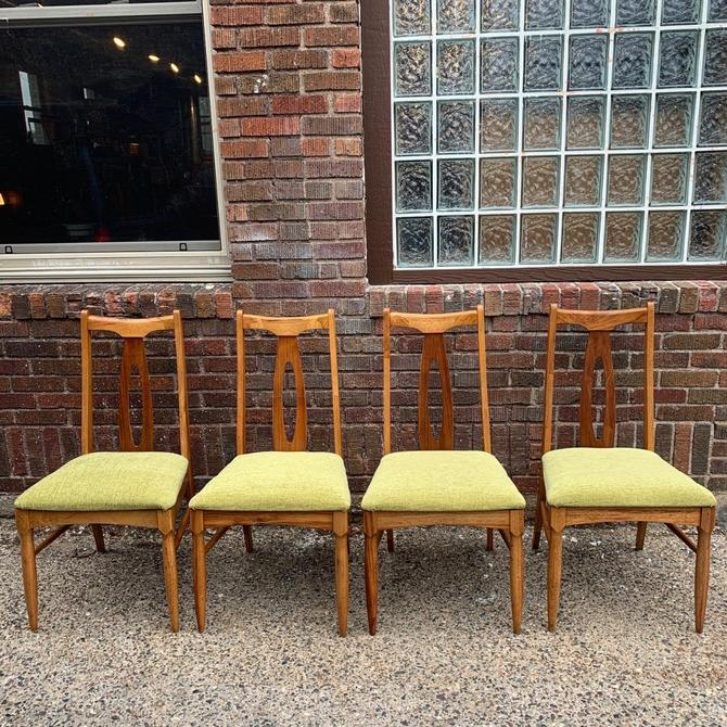 Refinished Set of 4 Mid-Century Dining Chairs