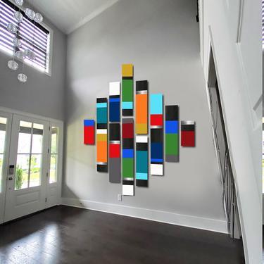 CUSTOM ORDER  (Installment #2) - Harneet - Custom Mod Colorblock by LauraAshleyWoodArt