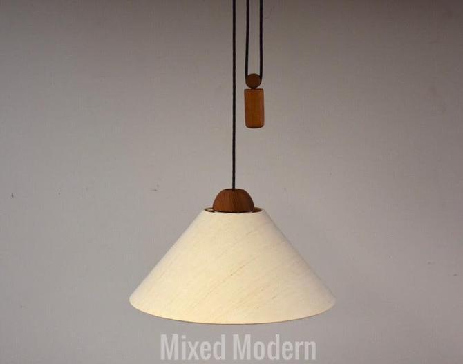 Domus Collection German Teak Light Fixture by mixedmodern1