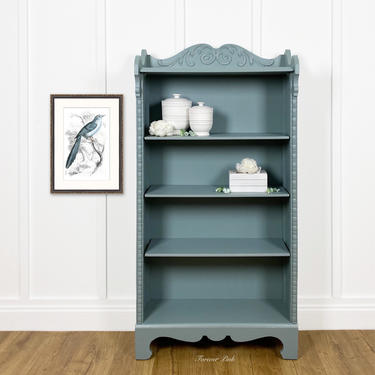NEW - Victorian Style Open Bookcase, Vintage Bookshelf, Farmhouse Display Cabinet by ForeverPinkVintage