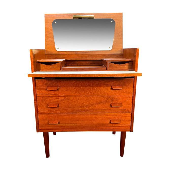 Vintage Danish Mid Century Modern Teak LowBoy Dresser - Vanity by AymerickModern
