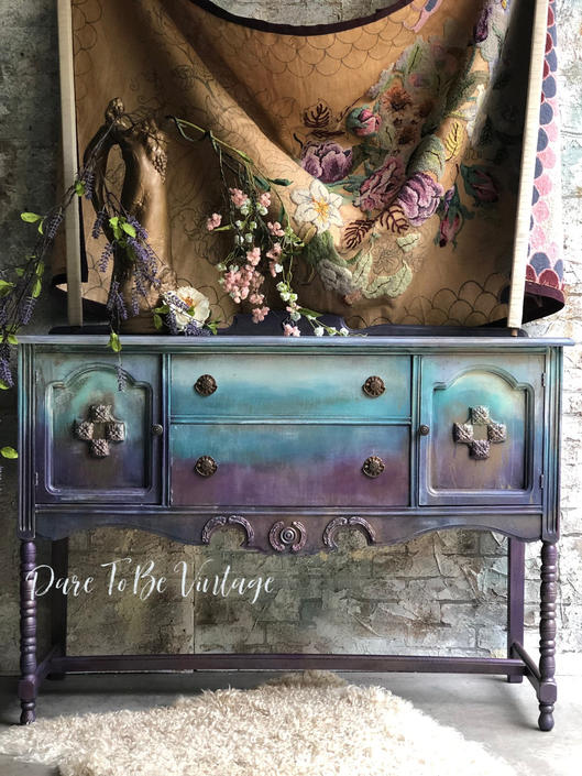 Hand Painted Sideboard Buffet