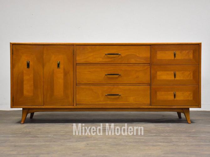 Walnut Mid Century Dresser by mixedmodern1