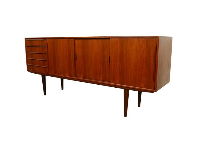 Teak Credenza Erling Torvits for Knud Nielsen Model 26 Danish Modern Sideboard by HearthsideHome